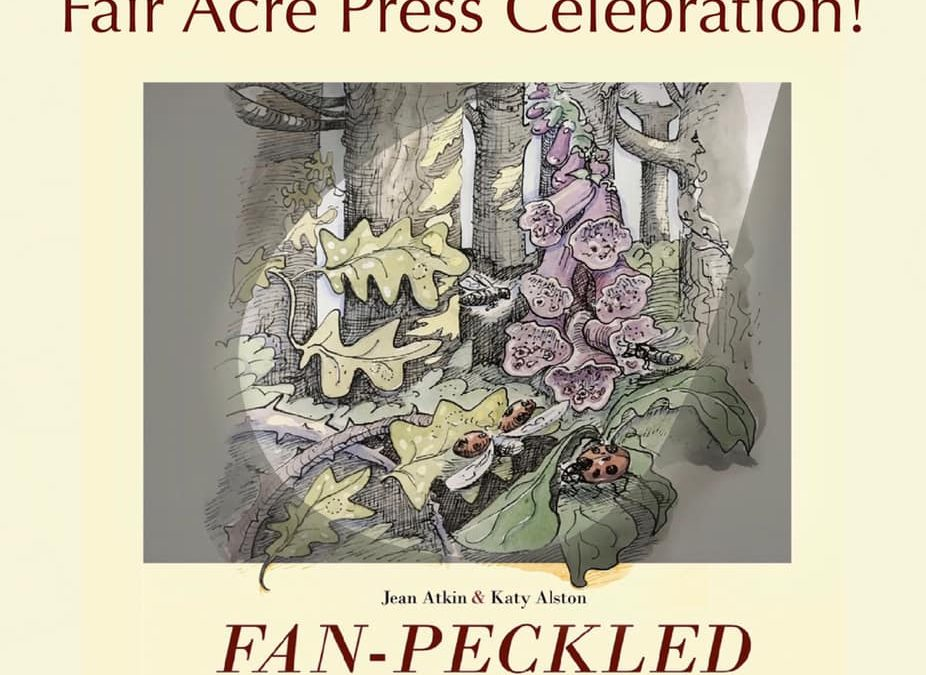 Jean Atkin launches Fan-Peckled, her poetry pamphlet 21 March, with Fair Acre Press